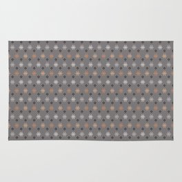 Boho Baby // Middle Eastern Metallic // Scorpion Symbol + Geometric Floral in Charcoal Rug