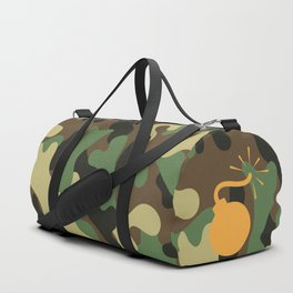CAMO & ORANGE BOMB DIGGITY Duffle Bag