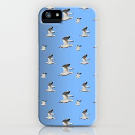 Flying Seagulls iPhone Case