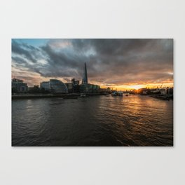 Sunset over the Thames Canvas Print