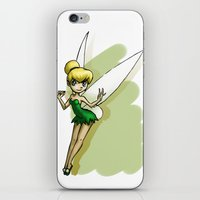 tinker bell iPhone & iPod Skins featuring Tinker by Sabina  Daldovo
