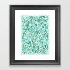 Blue Leaves Framed Art Print
