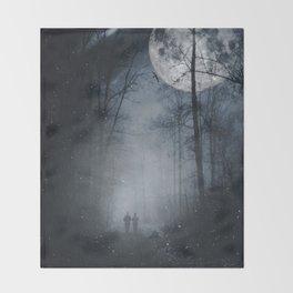 moon walkers Throw Blanket