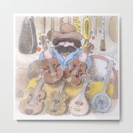 The Instrument-Seller Metal Print
