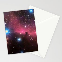 Horsehead and flaming tree nebula, in the constellation of Orion, Milky Way Stationery Cards