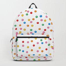 Rainbow Gumballs White Backpack
