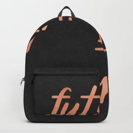 The Future is Female Pink Rose Gold on Black Backpack
