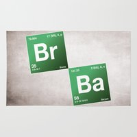 chemistry Area & Throw Rugs featuring BrBa chemistry by Nxolab