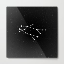 Gemini Astrology Star Sign Metal Print