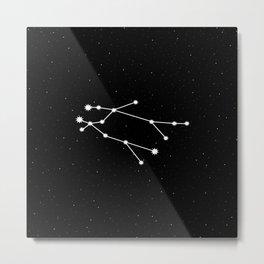 Gemini Star Sign Night Sky Metal Print