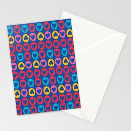Hearts stripes blue Stationery Cards