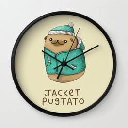Jacket Pugtato Wall Clock