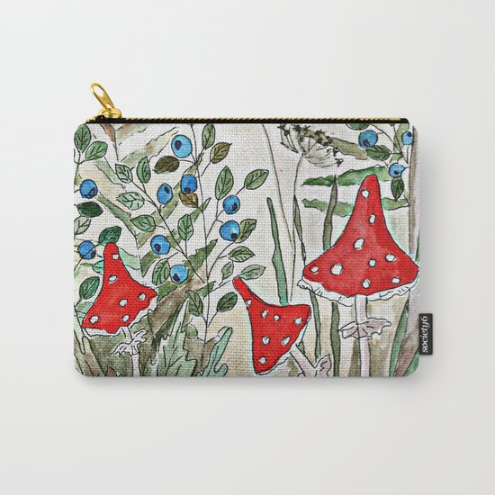 Watercolor. Forest. Amanita. Carry-All Pouch