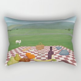 A Picnic in Yorkshire Rectangular Pillow