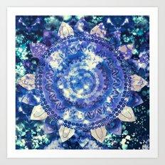 Boho Grape Fizz Mandala Art Print