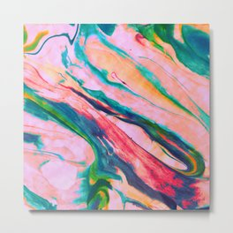 Bright and happy marble design Metal Print