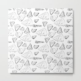 Perfect Pencil Pizza Time! Metal Print
