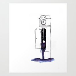 Cosmic Clock Art Print