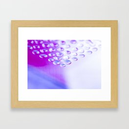 Colorful liquid droplets and blurs background wallpaper Framed Art Print