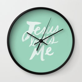 Jesus Loves Me x Mint Wall Clock
