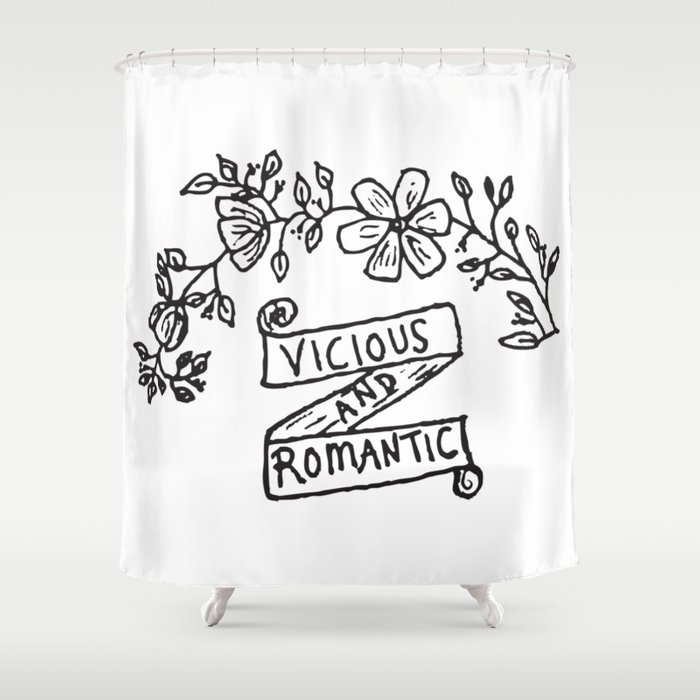 Vicious And Romantic Shower Curtain By Amandahuntdesign