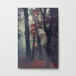 feel unreal - magical forest scene Metal Print