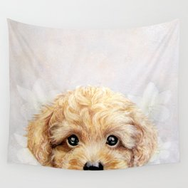 Toy poodle Dog illustration original painting print Wall Tapestry