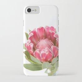 Dark Pink Protea iPhone Case