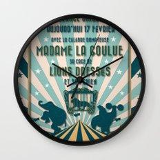 CIRQUE PRICE BLEU Wall Clock