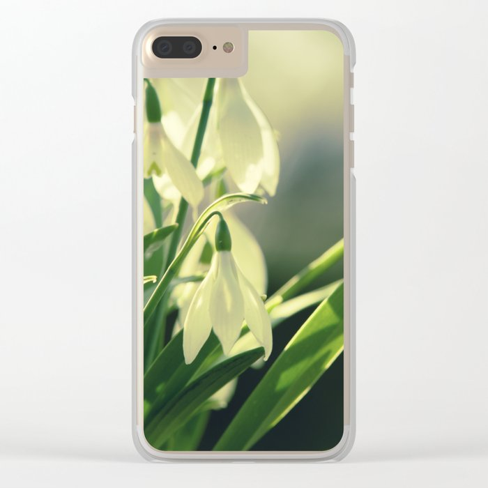 Snowdrops impression from the garden Clear iPhone Case