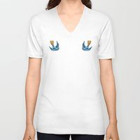 swallow V-neck T-shirts featuring Swallow Tattoo by Robert Karpati