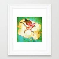 mythology Framed Art Prints featuring Gryphon mythology by Ganech joe