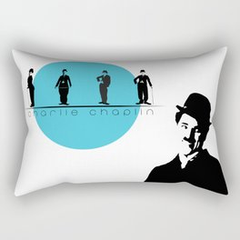 Stencil Charlie Chaplin Rectangular Pillow