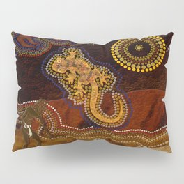 Desert Heat - Australian Aboriginal Art Theme Pillow Sham