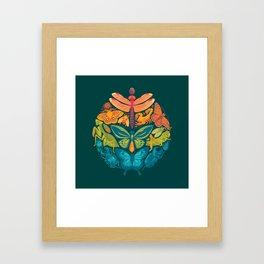 Bugs & Butterflies 2 Framed Art Print