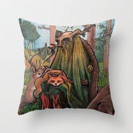 Leshy Throw Pillow
