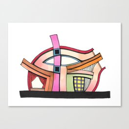 Abstract Theatre Architecture Art 50 Canvas Print