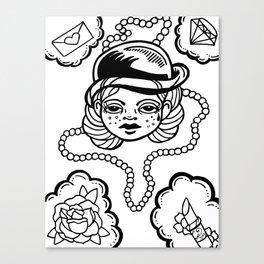 A Girl's Best Friends Canvas Print