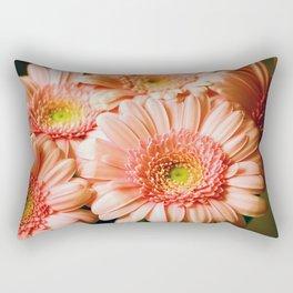 Golden Gerberas Rectangular Pillow