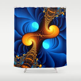 Wormhole Shower Curtain