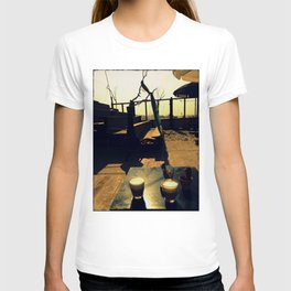 Afternoon Coffee - Vintage Style Photo T-shirt