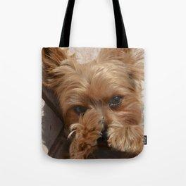Put Em' Up - The Yorkie Dog Tote Bag