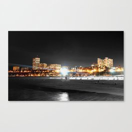 night time santa monica  Canvas Print