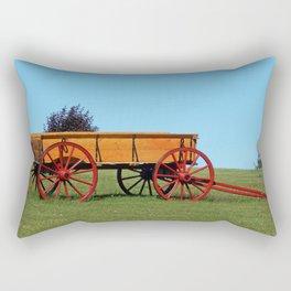 Wagon on a Hill Rectangular Pillow