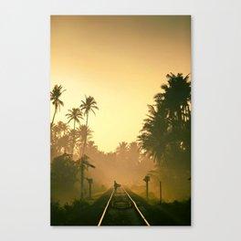 Railroad Palms Canvas Print