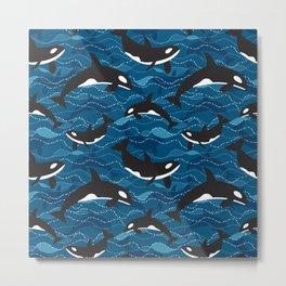 Deep Sea Orca Metal Print