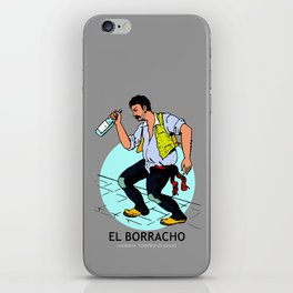 El Borracho Mexican Loteria Card iPhone Skin