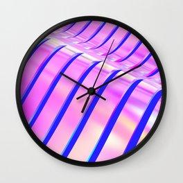 Iridescent Wave Wall Clock