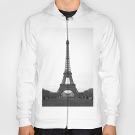 Eiffel Tower in black and white Hoody