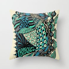 The wind that rocks the leaves Throw Pillow